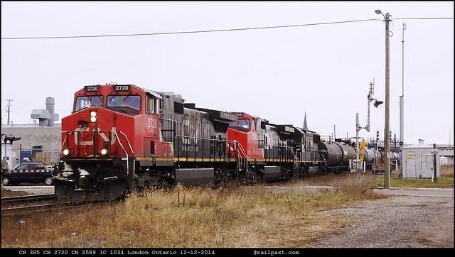 CN 385 CN 2720 CN 2588 IC 1034 London Ontario 12-12-2014