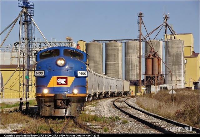 Ontario Southland Railway OSRX 1400 OSRX 1620 Putnam Ontario Nov 7 2016