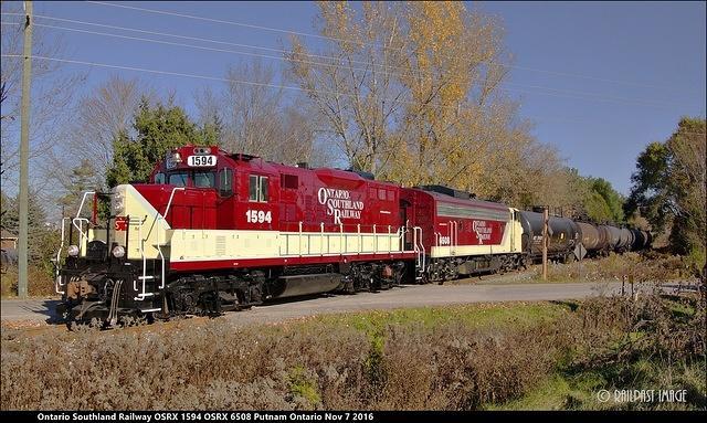 Ontario Southland Railway OSRX 1594 OSRX 6508 Putnam Ontario Nov 7 2016